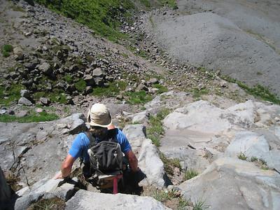Climbing back down to the Timberline Trail. © Chiyoko Meacham