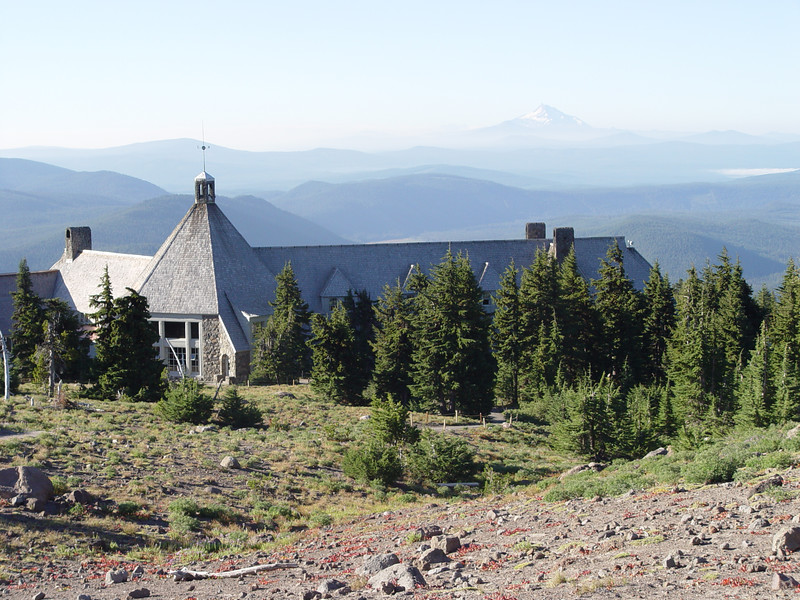 Timberline Lodge about 8:30am Looking South to Mt. Jefferson.
