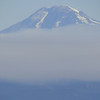 Mt. Adams shrouded in fire smoke.