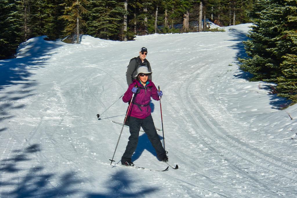 Chiyoko on skis!