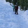 Beginning the steep bit up to Timberline Lodge.