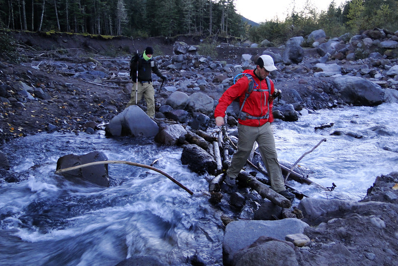 Crossing the Sandy River.