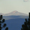 Zoomed in on Strawberry Mountain early Friday morning from Karen's Cabin