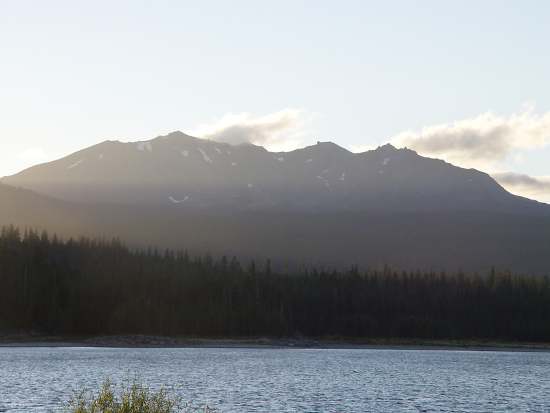 Friday Evening - Mt.Defiance from Crescent Lake.