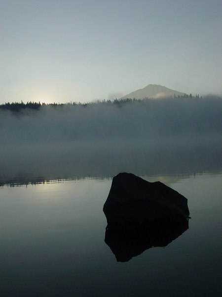 Elk Lake - Sunrise coming!