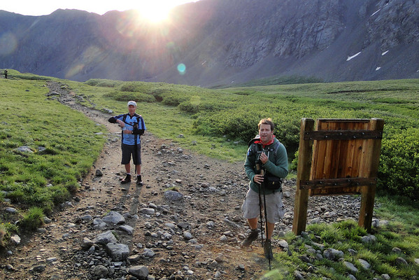 The Sun came over the ridge at about 6:10 at mile 1.5.