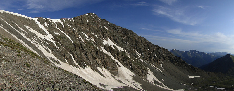 Grays Peak Trail. Looking over at Torreys.