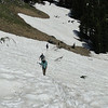 Snow banks on the Garfield Peak Trail.