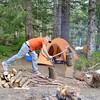 Curtis wood chopping.