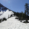 After 3.6 miles you reach the ridge line at the point were the PCT crosses. To the North the PCT was still 100% snow covered, tough going for those heading that way!