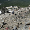 Once you get to about 8900' things get a bit easier again. Note the red trail marker!