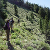 Heading along the Western Slopes of Slide Mountain on the skyline trail.