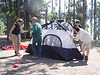 So how many interns does it take to put up a tent :^)..