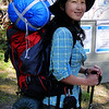 Chiyoko setting off from the June Lake Trailhead.