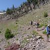 Heading up to the ridge line.