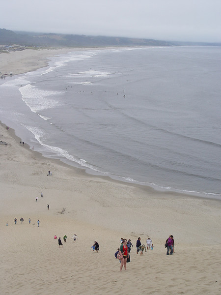 Arriving at Pacific City we of course climbed the sand dune before lunch at the Pelican Pub.