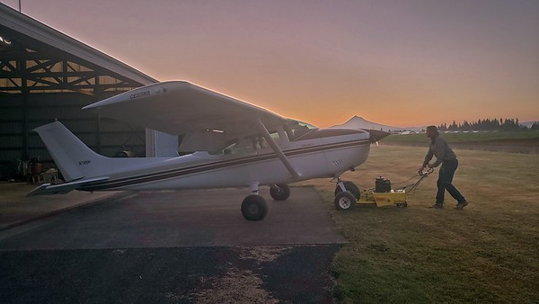 Early Morning Flight to Milton Freewater