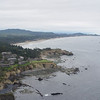Looking South past the Inn at Otter Crest, Devils Punch Bowl & the Yaquina Bay Lighthouse.