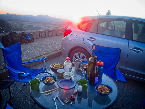 Mt St Helens - Whittier Ridge Dinner & Sunset © Chiyoko Meacham
