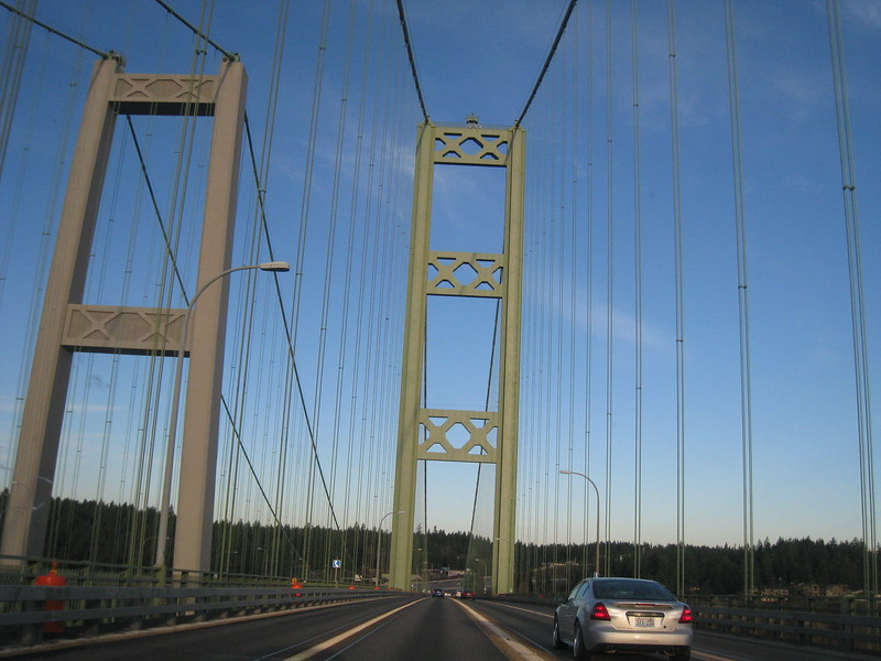 Crossing the Tacoma Narrows Bridge <FONT SIZE=1>© Chiyoko Meacham</FONT>