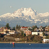 Looking back to Bremerton & the Olympic mountains behind.