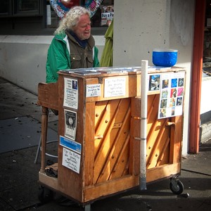 I first saw Jonny Hahn busking on the street near Pike Place market back in 1985. I cant think of a single time I've been to the Market over the last 33 years when he hasn't been there.