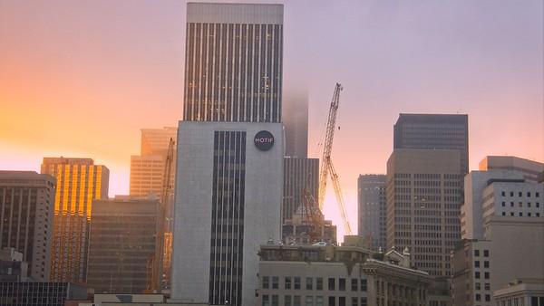 Seattle Trip: Hotel Window Sunrise!