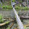 Eric crossing Clearwater Creek