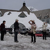 In front of Timberline Lodge - April 27th 2008.