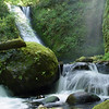 "<B>Bridal Veil Creek - <A HREF=""http://guy.smugmug.com/keyword/Middle Bridal Veil Falls"">Middle Bridal Veil Falls</A></B> You will have to bushwhack upstream about 3/4 of a mile from the Old Columbia Gorge Highway to find these Falls - No trail available! <FONT SIZE=1>Northwest Waterfall Survey</FONT>"