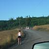 Leg 20 - Heading into the hills on gravel roads. <FONT SIZE=1>© Yuko Matsumoto</FONT>