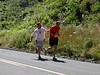 David cools down Matt half way through the dreaded <I>Leg 29</I> - famous for its 3 mile 650 foot climb.