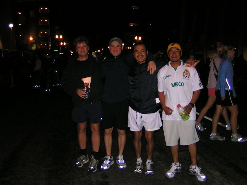 Guy, Ion, Juan & Javier - Before the Race 6:30am