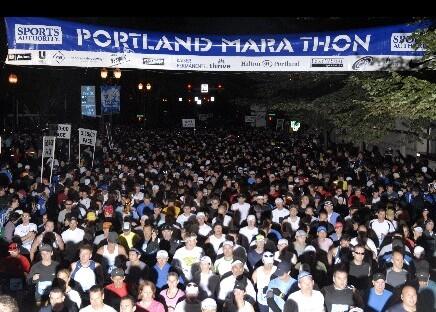 Marathon start 7:00am - I'm in there somewhere!