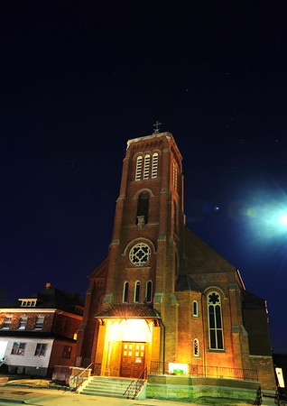 St. Joseph's Church While in downtown Maumee last night, I brought out the tripod to get this long exposure shot of St. Joseph's Church, which was constructed in the 1840s.