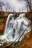 Brandywine Falls Trail at Cuyahoga Valley National Park located in Peninsula, Ohio - Sunday, December 23, 2018