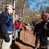 Hike participants discussed that latest letter from the US Forest Service about the Pow Wow Trail.