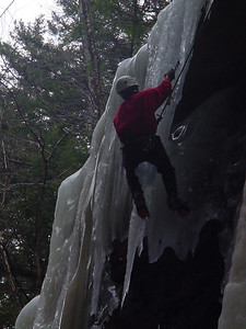 ... up the icicle
