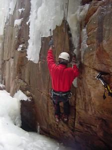 Aleksey starting a climb