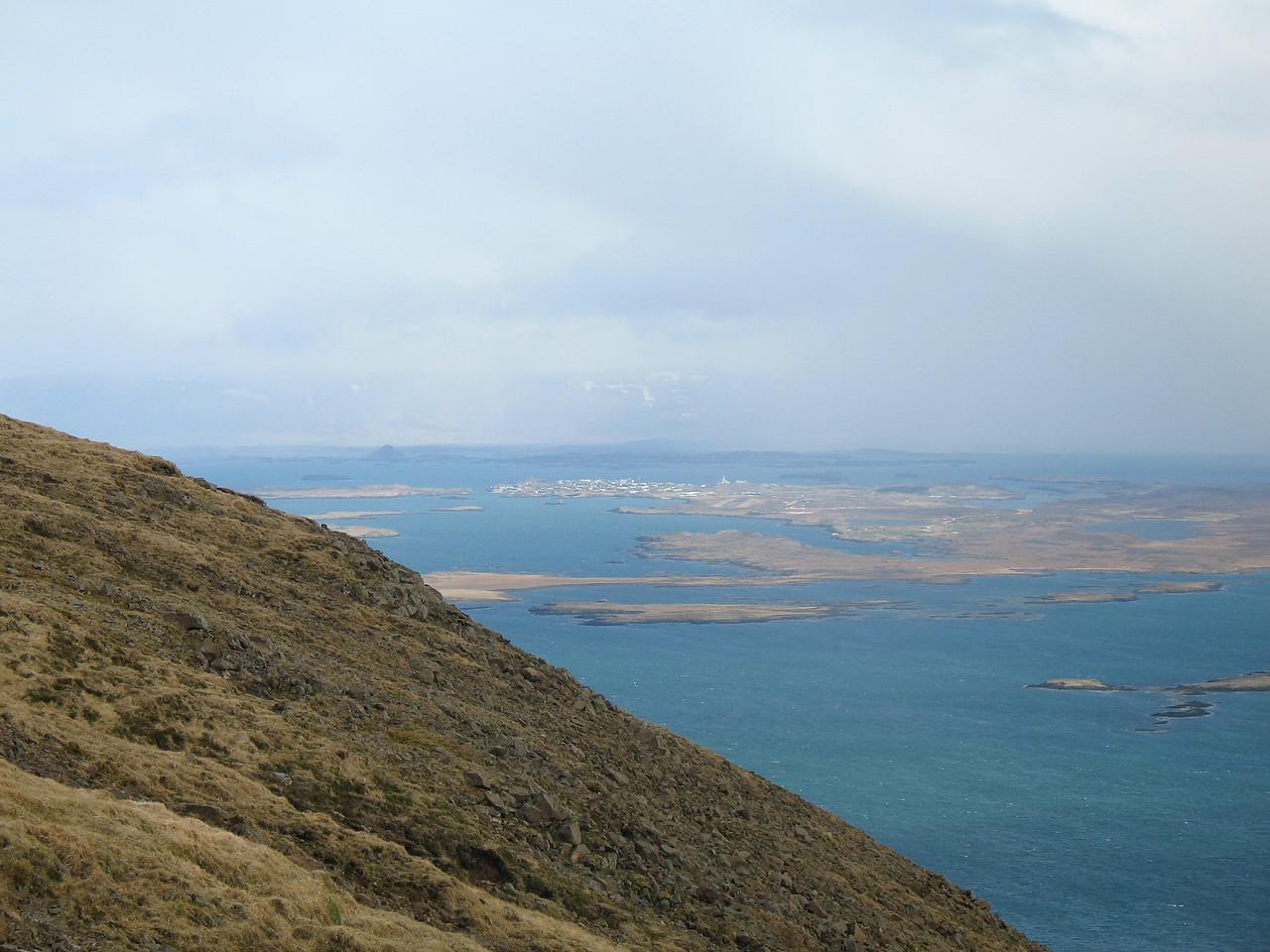 Við fengum fljótlega útsýni til Stykkishólms.