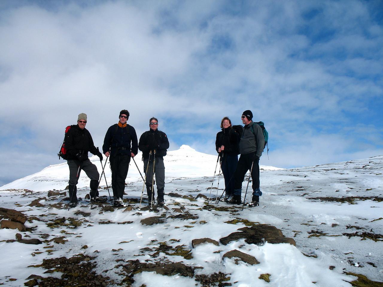 Þórhallur, Tómas, Stefán, Geirhnúkur, María og Þorsteinn