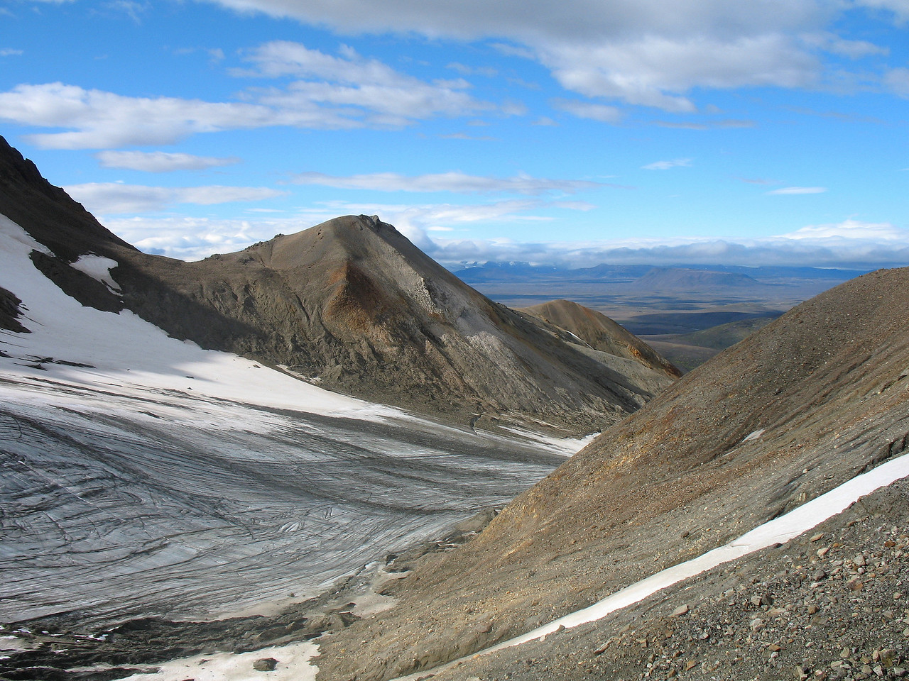 Vestari-Loðmundarjökull, yfir hann þurftum við að fara.