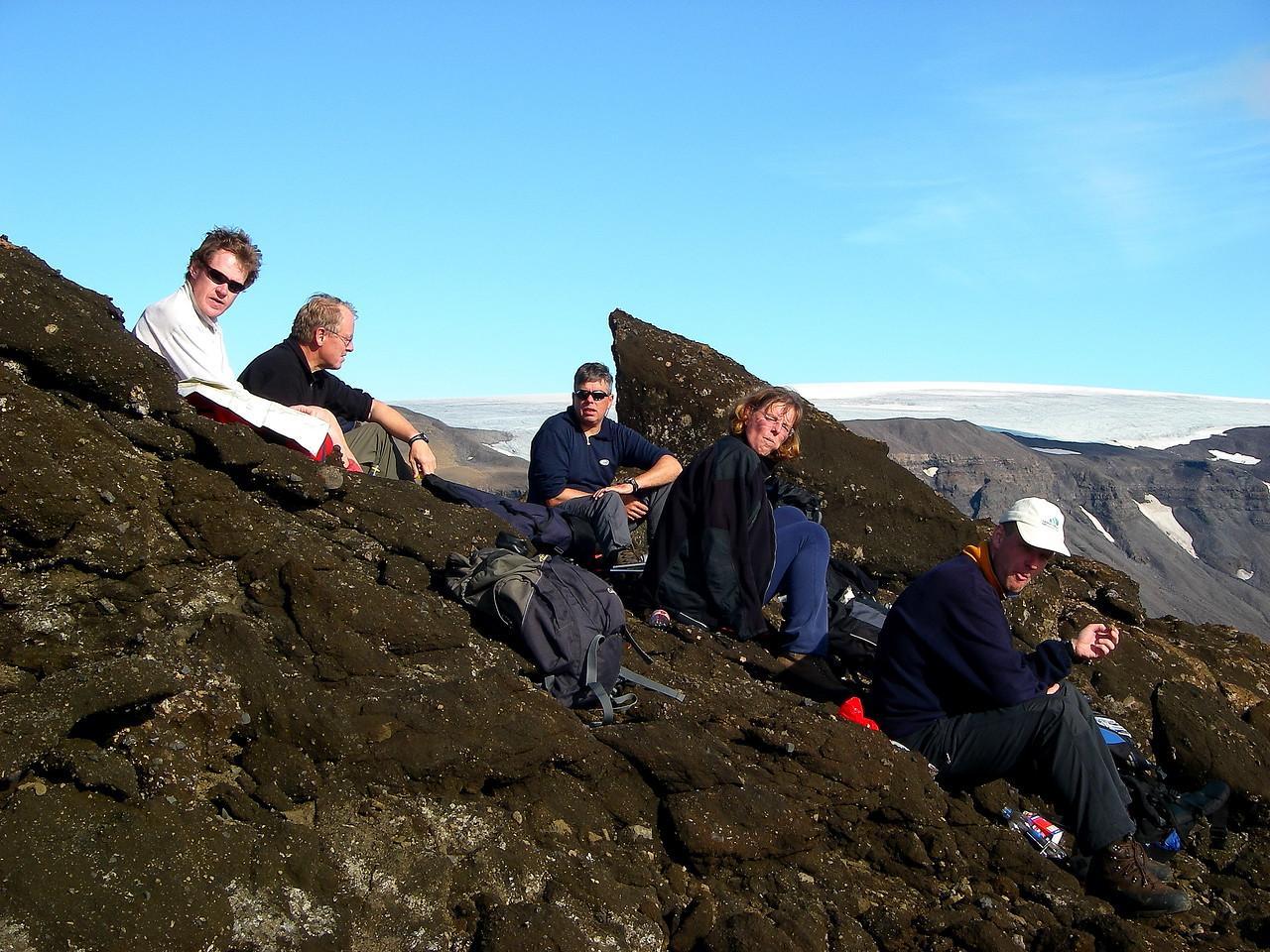 Fallegur síðsumardagur, Þórisjökull í baksýn.