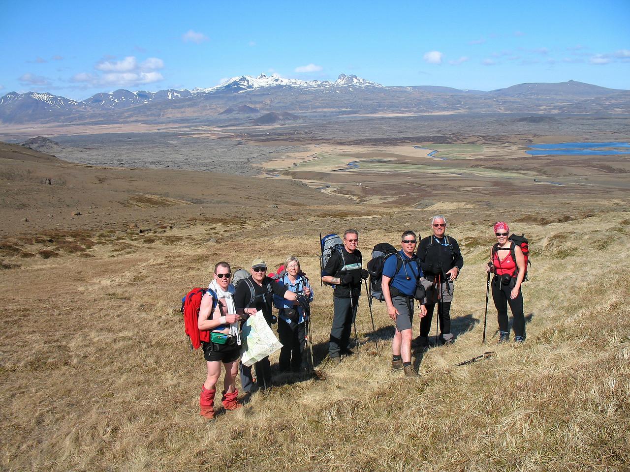 Eilífur, Kiddi, Gerður, Gunnar, Stefán, Þórhallur og María Dögg.