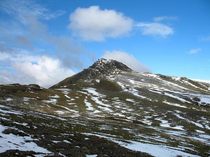 Hatta séð af Víkurheiði - en hluti hópsins gekk þá leið niður í þorpið í stað þess að fara aftur að bílunum.