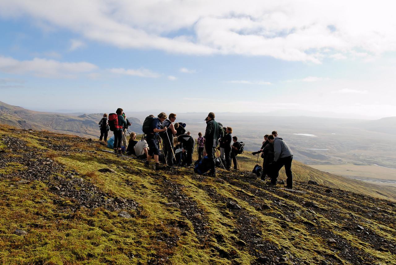 12:47 Eins og sjá má var veðrið gott, stutterma- og stuttbuxnaveður!