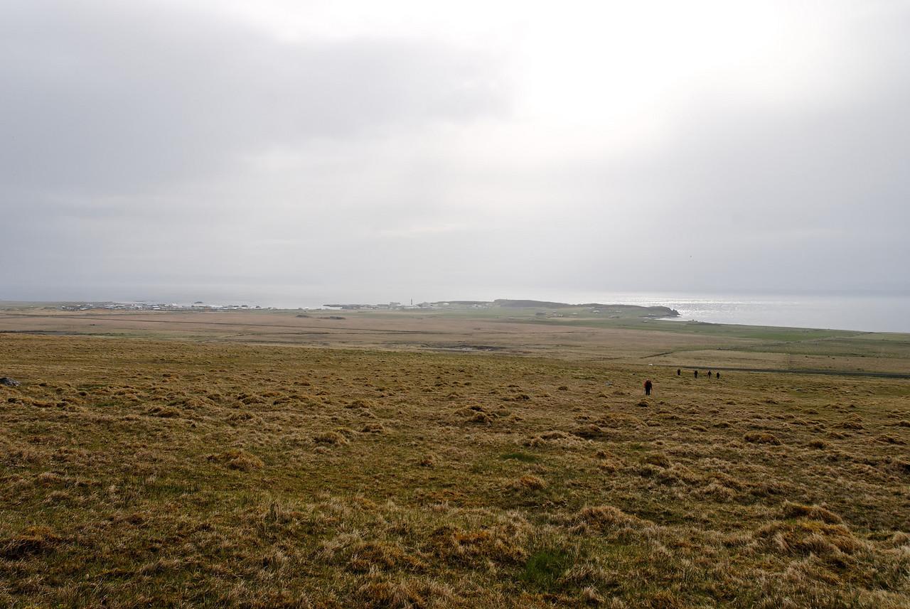 17:18 Lagður af stað, hópurinn á eftir mér (fannst ágætt að byrja með forskot!). Eins og sjá má var veðrið ekkert sérstakt í upphafi ferðar.