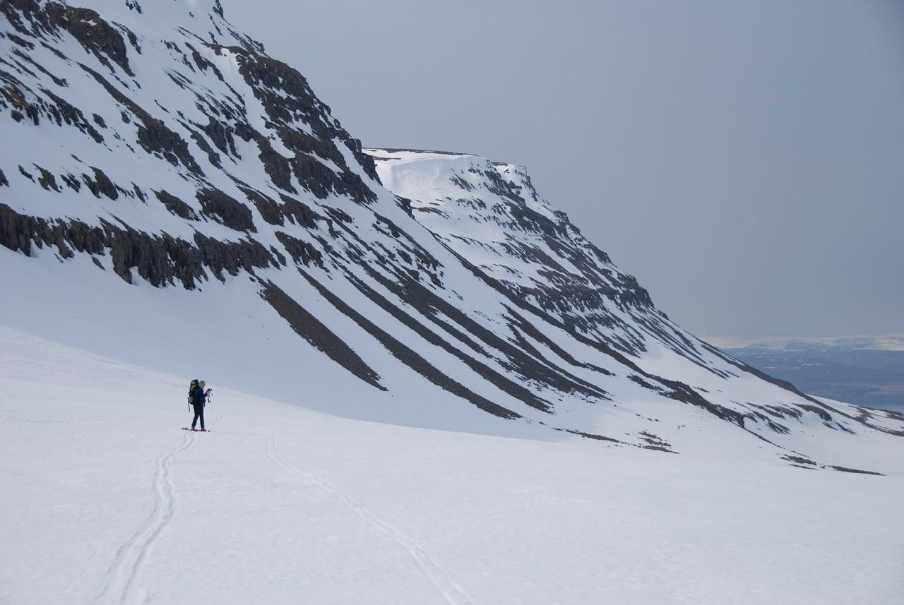 11:49 Gerður á leið inn Háafellshjalla.