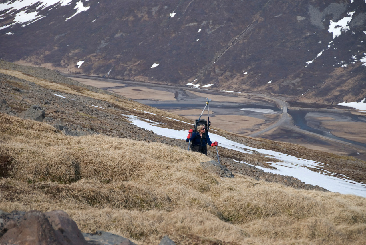 10:57 Gerður vinnur sigur á næsta hjalla. Ástæða þess hversu margar myndir eru af Gerði er auðvitað sú að hin voru venjulega langt á undan ....