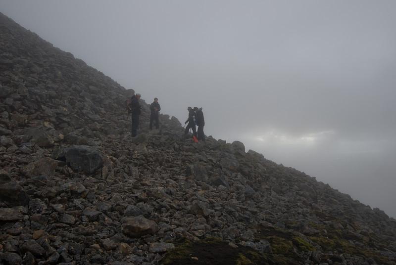 Komin upp í skýin - í 900 metra hæð.